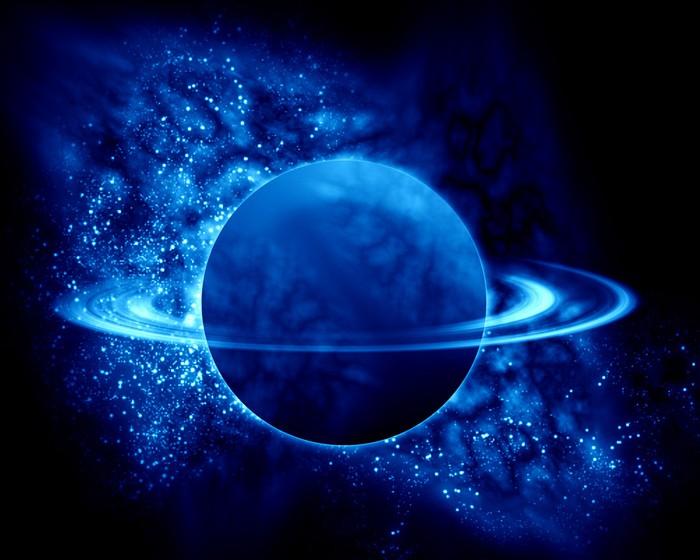 Canvas Saturnus in het heelal  Pixers  We leven om te