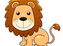 Vinilo Pixerstick Ilustración del vector del león de ...