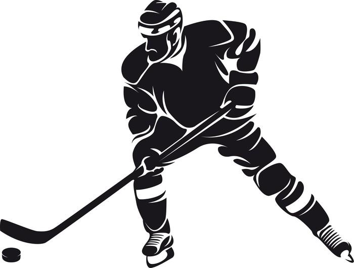 Aufkleber Hockeyspieler Silhouette  Pixers  Wir leben