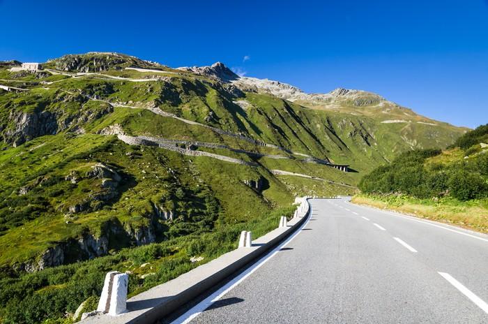 Fototapete Furkapass Strae in den Schweizer Alpen Schweiz  Pixers  Wir leben um zu verndern