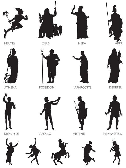 Fototapete Olympische Gtter und mythologische Figuren  Pixers  Wir leben um zu verndern