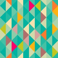 Abstract geometric seamless pattern Wall Mural  Pixers ...