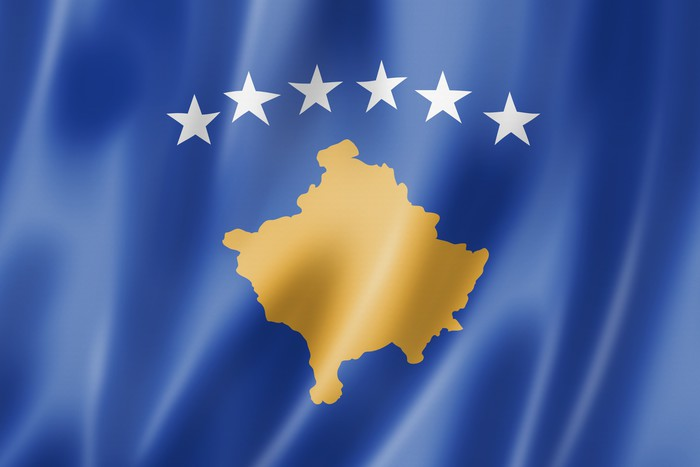 Fototapete KosovoFlagge  Pixers  Wir leben um zu verndern