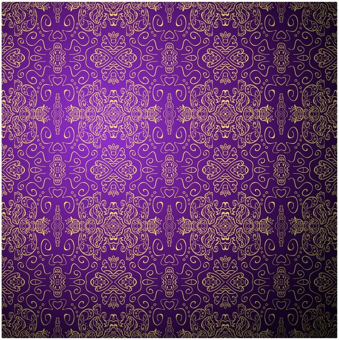 Fotobehang Antieke patroon achtergrond Purple naadloze