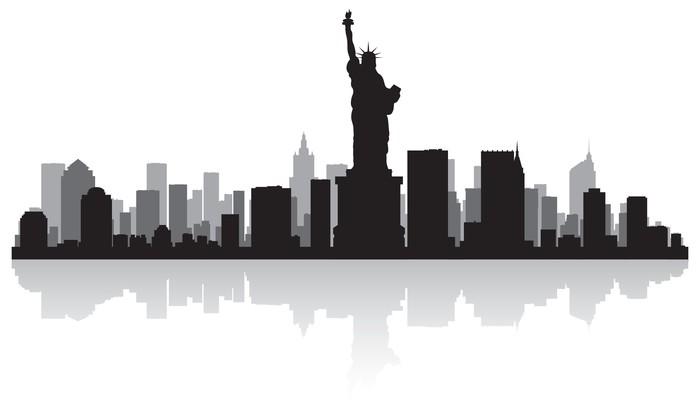 Wandtattoo Skyline von New York Silhouette  Pixers  Wir