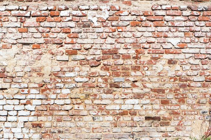Fotobehang Bakstenen muur met vintage look  Pixers  We