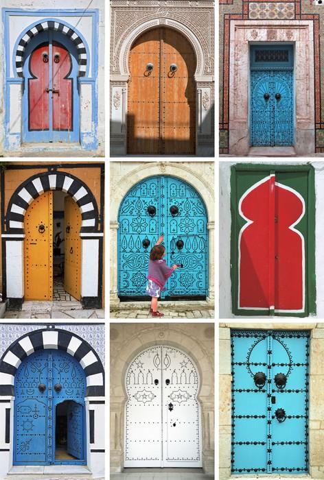 Cuadro en Lienzo Mosaico de puertas rabe  TUNEZ  Norte de frica  Pixers  Vivimos para cambiar