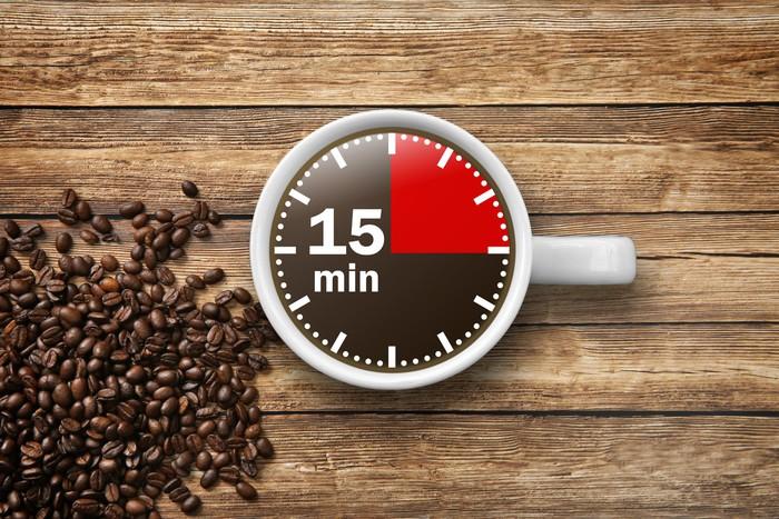 Fototapete 15 min Kaffeepause  Pixers  Wir leben um zu