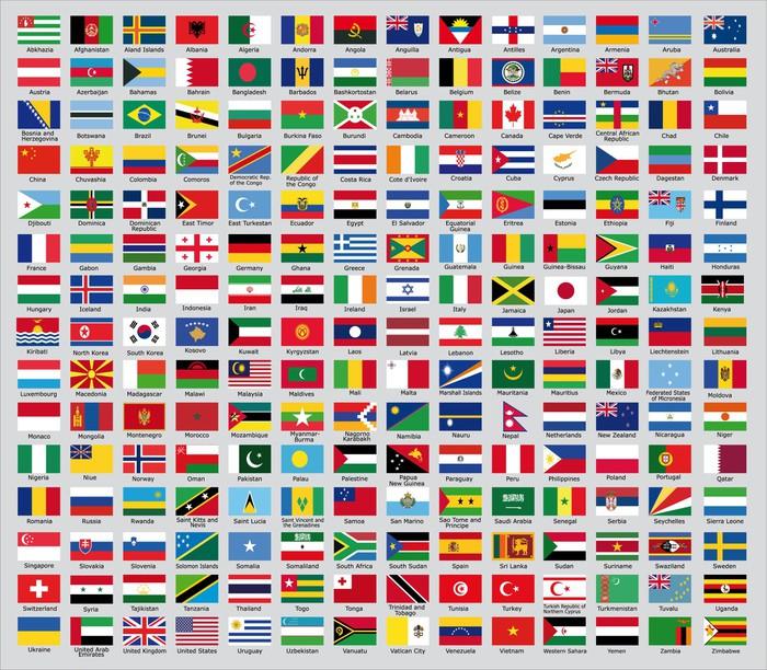 Carta da Parati Laggiornamento delle bandiere nazionali