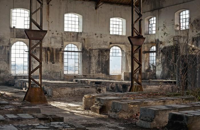 Fototapete Alten Industriegebude voller Fenster  Pixers
