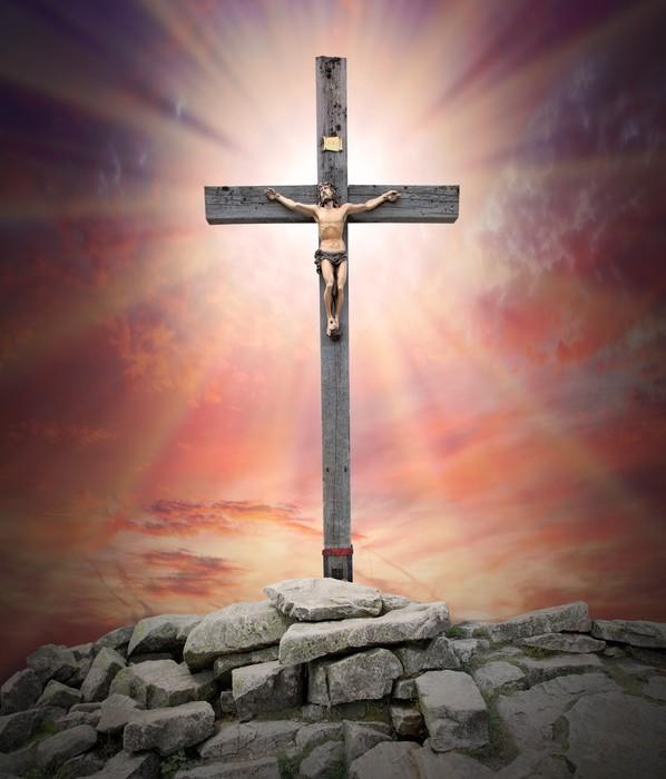 Fotobehang Jezus Christus aan het kruis  Pixers  We