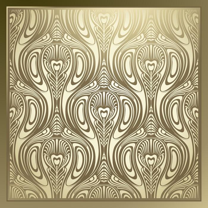 Papier peint Seamless Art Nouveau  Pixers  Nous vivons