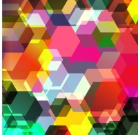 Abstract colorful geometric background Wall Mural  Pixers ...