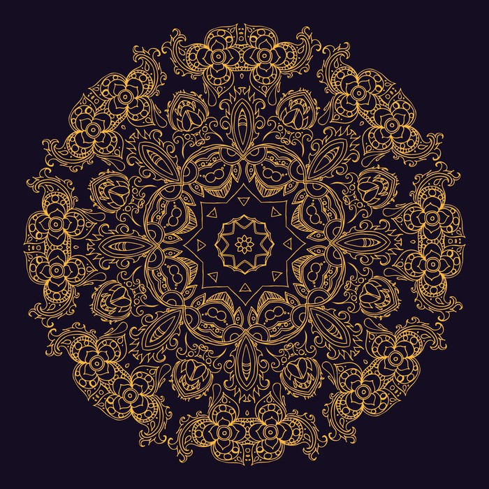 Fototapete Gold indische Mandala  Pixers  Wir leben um