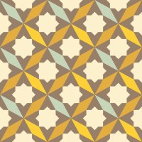 abstract retro geometric pattern Wall Mural  Pixers  We ...