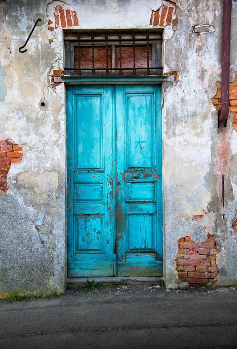 Fotobehang Oude houten deur  Pixers  We leven om te