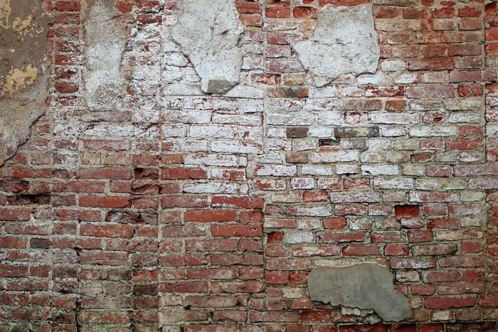 Fotobehang Oude bakstenen muur  Pixers  We leven om te