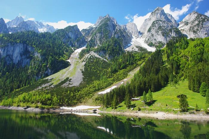 Fototapete Ansicht der alpinen See Gosausee