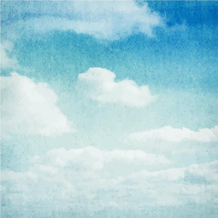 Fotobehang Aquarel wolken en hemel achtergrond  Pixers