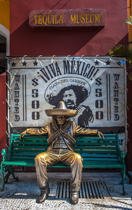 Brave Mexican man in traditional costume Mexico Wall