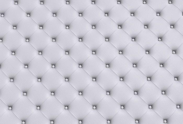 Adesivo La texture bianco del divano pelle trapuntato