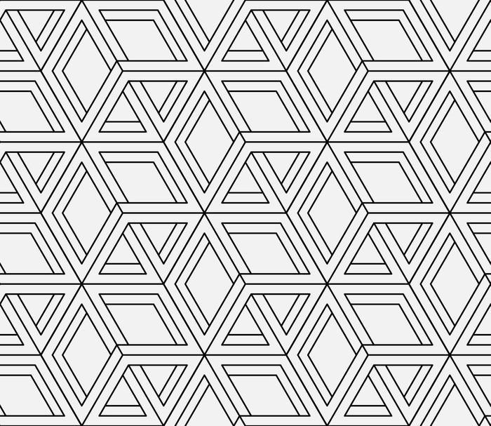 Seamless Geometric Pattern In Op Art Design Vector Art