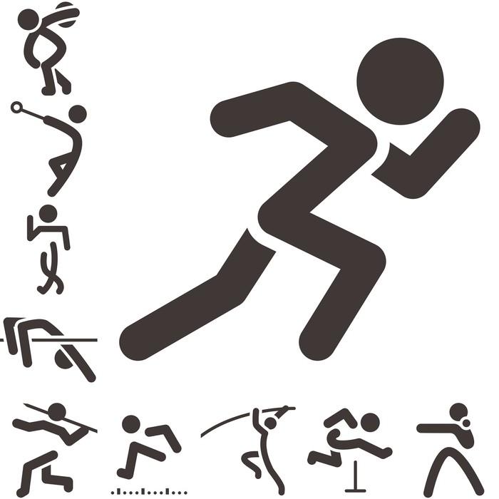 Poster Set von LeichtathletikIcons  Pixers  Wir leben um zu verndern