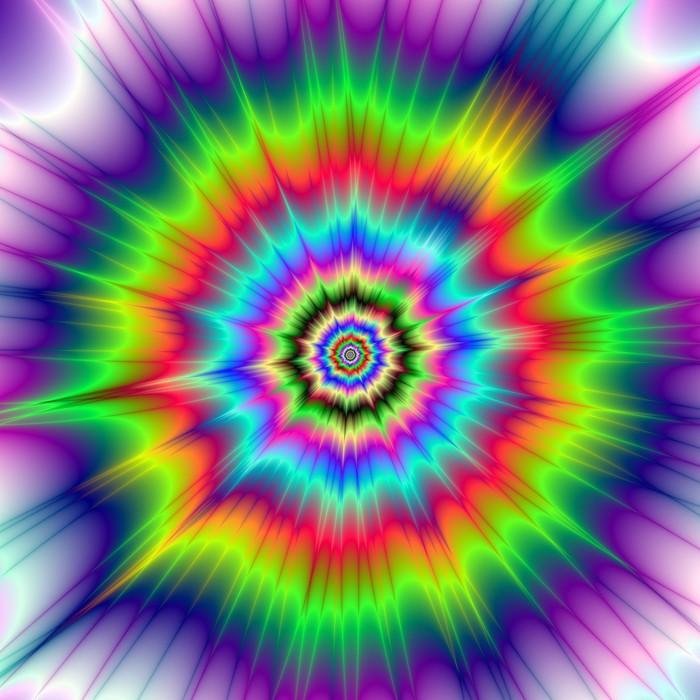 Fototapete Psychedelische Farbexplosion  A digitale abstrakte Fraktale Bild mit einem bunten