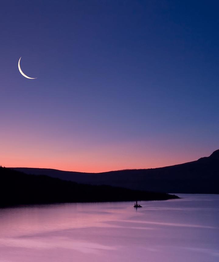 waxing crescent moon lunar