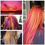 sunset hair instagram trend