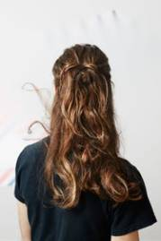 men with long hair in updos female