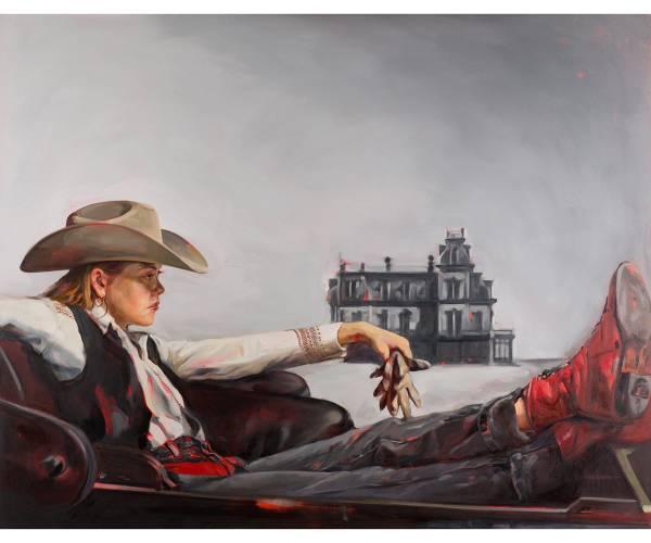 Felice House Art Classic Cowboy Western Women Painting