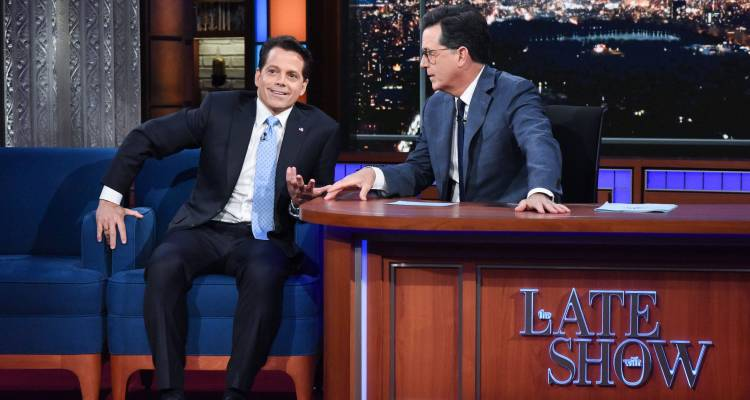 Anthony Scaramucci The Late Show With Stephen Colbe