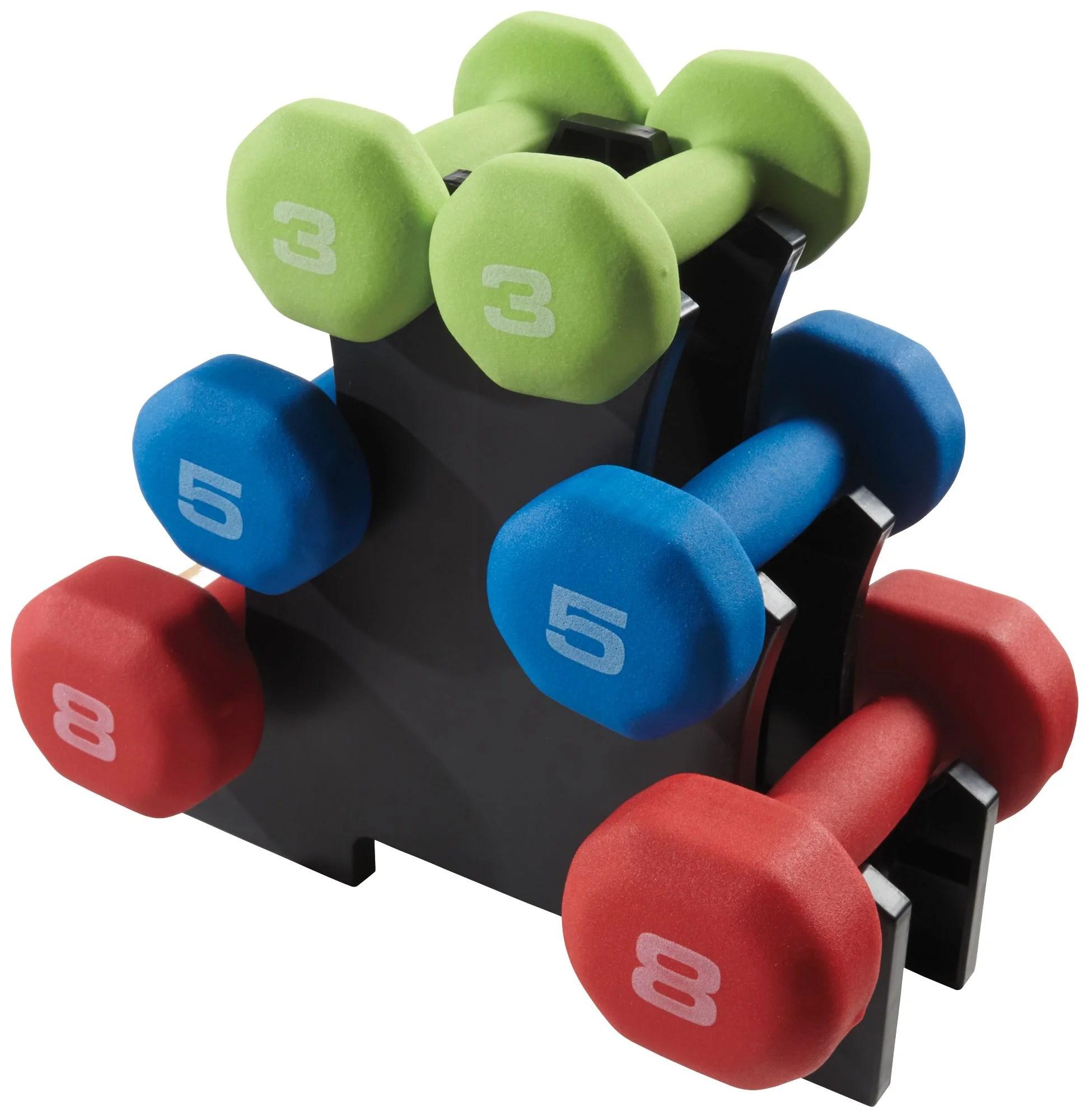 Fitness Gear Fitness Gear 32 Lb Neoprene Dumbbell Kit