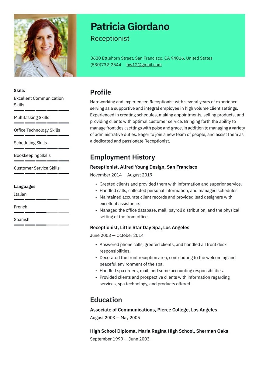 Formatted for employers and robots. Create Your Job Winning Resume Free Resume Maker Resume Io