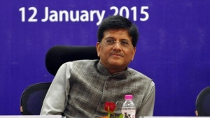 Power and Coal Minister Piyush Goyal attends a seminar during the second day of the Vibrant Gujarat Summit in Gandhinagar in Gujarat January 12, 2015. REUTERS/Amit Dave/Files