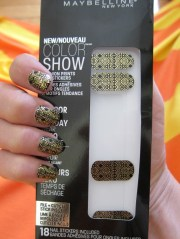 nail art heavy metal & black decals