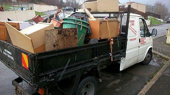 council sofa collection cardiff beddinge lovas bed ransta dark gray rubbish removal skip hire