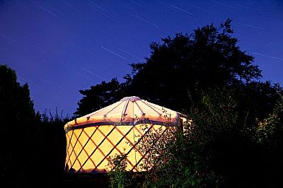 black isle yurts - outside view