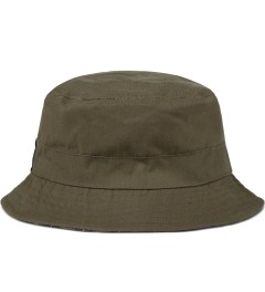 Grand Scheme Green Oiled Canvas Bucket Hat Model Picutre