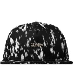 Stampd Black Calf Hair Print Snapback Cap Picture