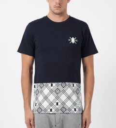 Daily Paper Navy Two Tone T-Shirt Model Picture
