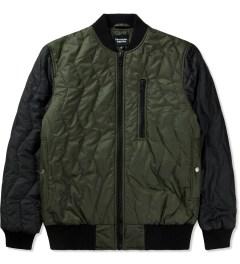 Christopher Raeburn Olive/Black Quilted Bomber Jacket Picutre