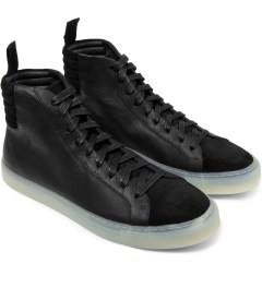 SILENT Damir Doma Black Fulmar Hi Top Sneakers Model Picture