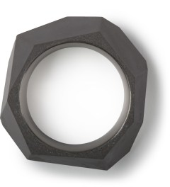 22DesignStudio Black Concrete Rock Ring Model Picture