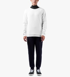 Kunz by Nicklas Kunz White/Black Athletic Turtle Neck Shirt Model Picutre