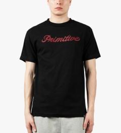 Primitive Black Signature Script T-Shirt Model Picutre