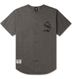 Stussy Grey S Baseball SU14 Jersey Picture