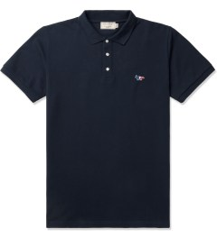 Maison Kitsune Navy Tricolor Patch S/S Polo Shirt Picture