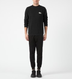 Stussy Black Basic Logo Crewneck Sweater Model Picture